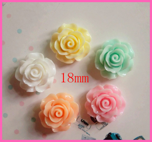 Wholesale 10pcs Mixed kawaii flat back resin cabochons plastic flower Fit Jewelry accessories diy phone decoration