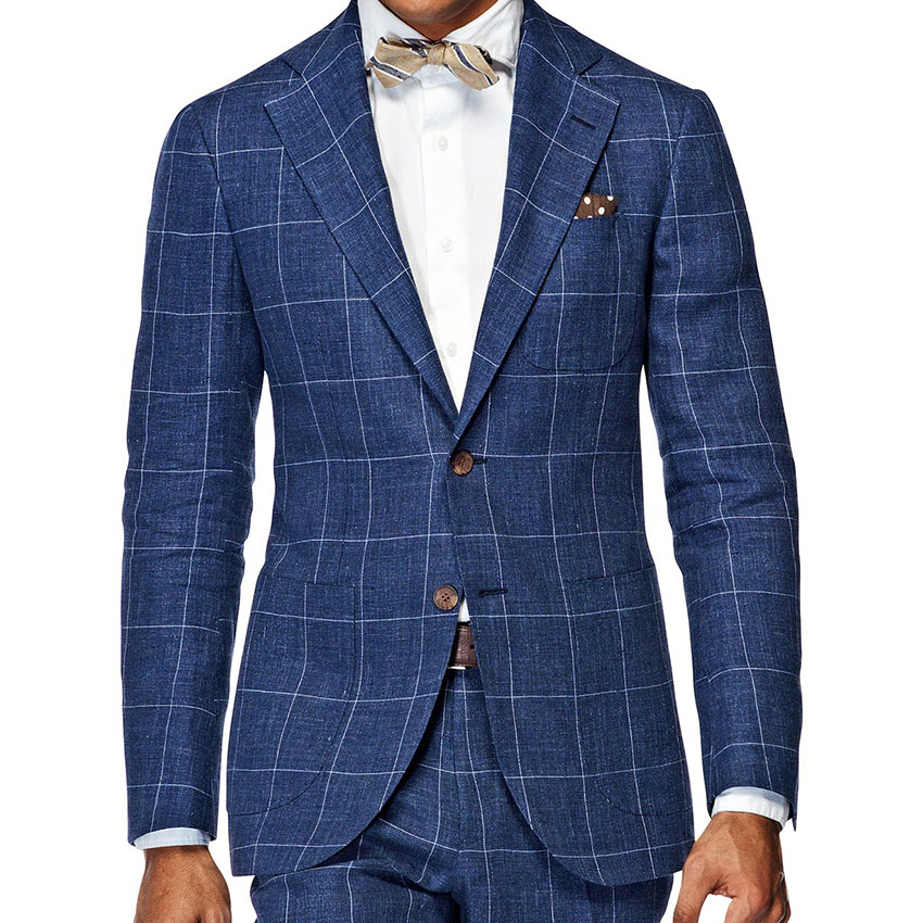 f1ed2a8c90865e Men'S Wardrobe Essentials Slim Fit Windowpane Suit Tailor Made Navy Blue  Windowpane Check Suits For Men
