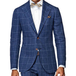 dower me Slim Fit Navy Blue Suits For Men Elegant Business