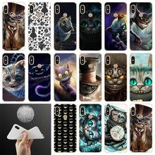 Mèo Cheshire Alice Mắt Mềm Điện Thoại Xiaomi Redmi Note 8 7 6 5 Pro 8A 7 6pro 6A s2 5A 4A 5 Plus Y3 Coque Funda Etui Trường Hợp(China)