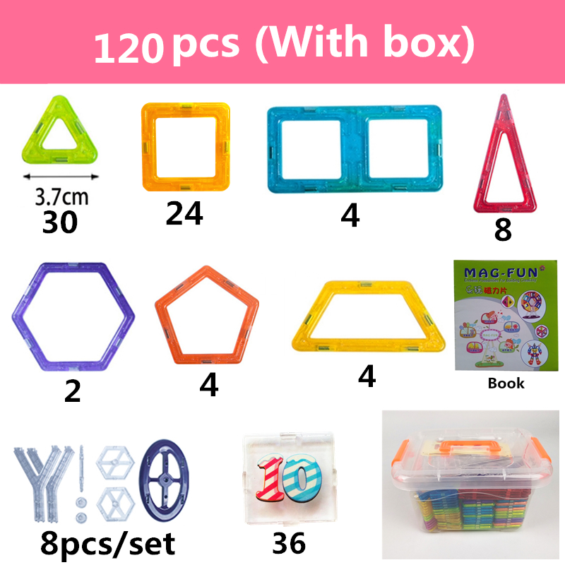 Image 3 - 142Pcs Mini Magnetic Designer Plastic Magnetic Blocks Construction Set Model & Building Toy Educational Toys Kids Gift With Box-in Blocks from Toys & Hobbies
