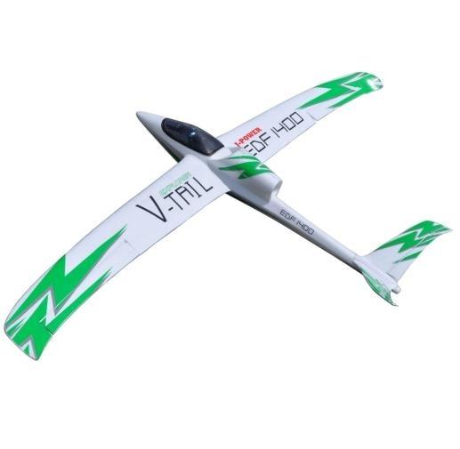 Explorateur 50mm EDF 1400mm v tail planeur EPO RC jet avion JA 12-in Avions télécommandés from Jeux et loisirs    1