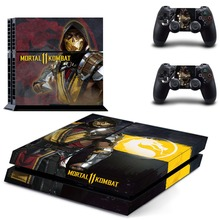 Mortal Kombat 11 PS4 Skin Sticker Decal For Sony PlayStation 4 Console and 2 Controllers PS4 Skins Sticker Vinyl