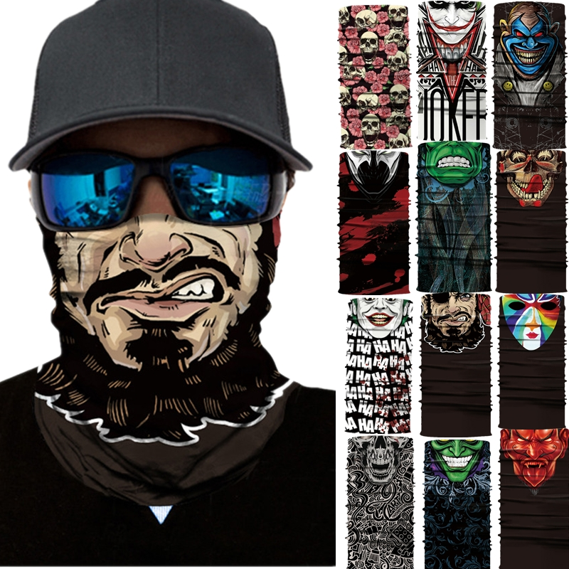 Accessories 2019# Motorcycle Face Mask Cycling Halloween Head Scarf Neck Warmer Skull Ski Balaclava Headband Scary Face Shield Mask Outdoor Electric Vehicle Parts