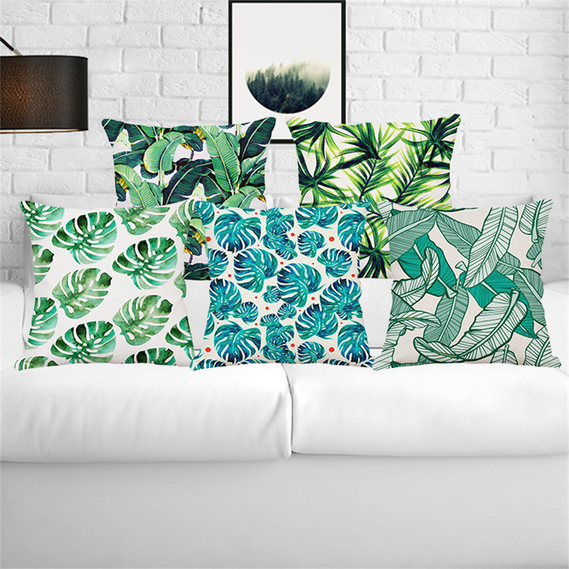 Yaşıl yarpaqlar Tropik Bitkilər Banan Yarpaqları Canna Monstera - Ev tekstil - Fotoqrafiya 1