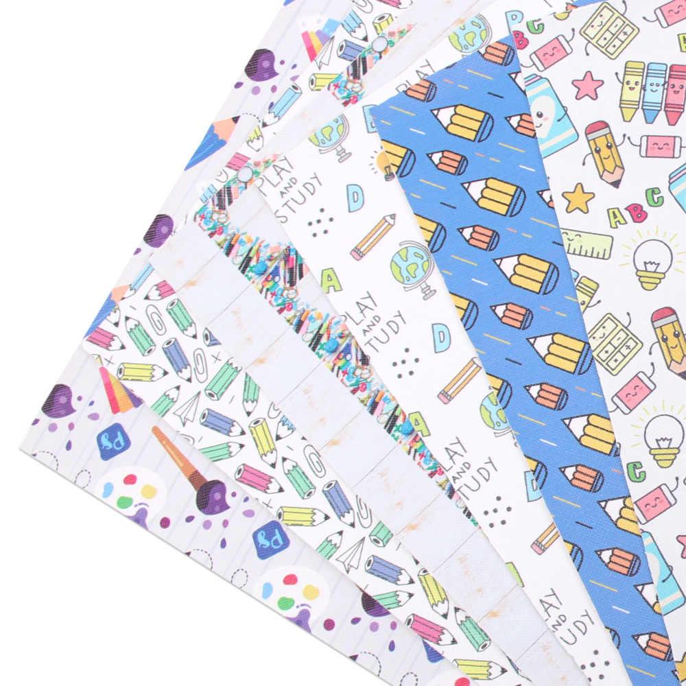 JOJO ARCOS 22*30cm 1pc Folha Do Falso Tecido De Couro Sintético Para Embarcações de Volta Para A Escola Para DIY arcos Têxtil de Casa Decoração Suprimentos