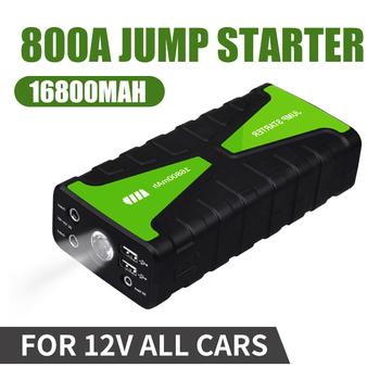 16800mAh samochód skok startowy 800A przenośny 12V zewnętrznego akumulatora samochodowego pojazdu awaryjnego wzmacniacz akumulatora wielu funkcja włączania wyłączania bank tanie i dobre opinie NoEnName_Null 12000-18000 Msds 800 a 90 12 v Oświetlenie Światło ostrzegawcze SOS Oświetlenie Brak