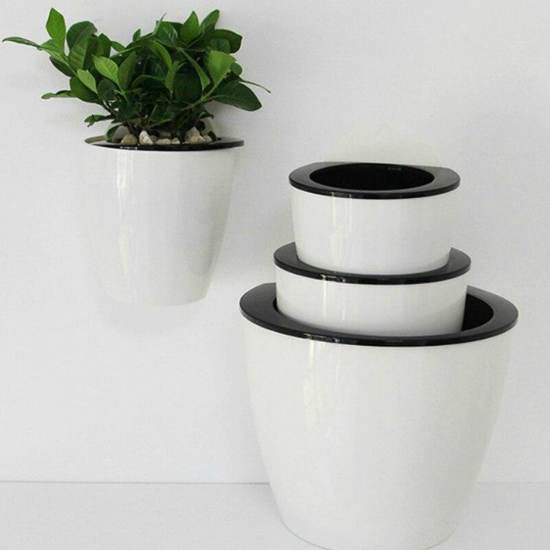 Us 104 20 Offpół Okrągły Imitacja Ceramiczne żywica ściany Wiszące Doniczka Hydroponika Chlorophytum Doniczkowe Rośliny Zielone Salon Dekoracji W