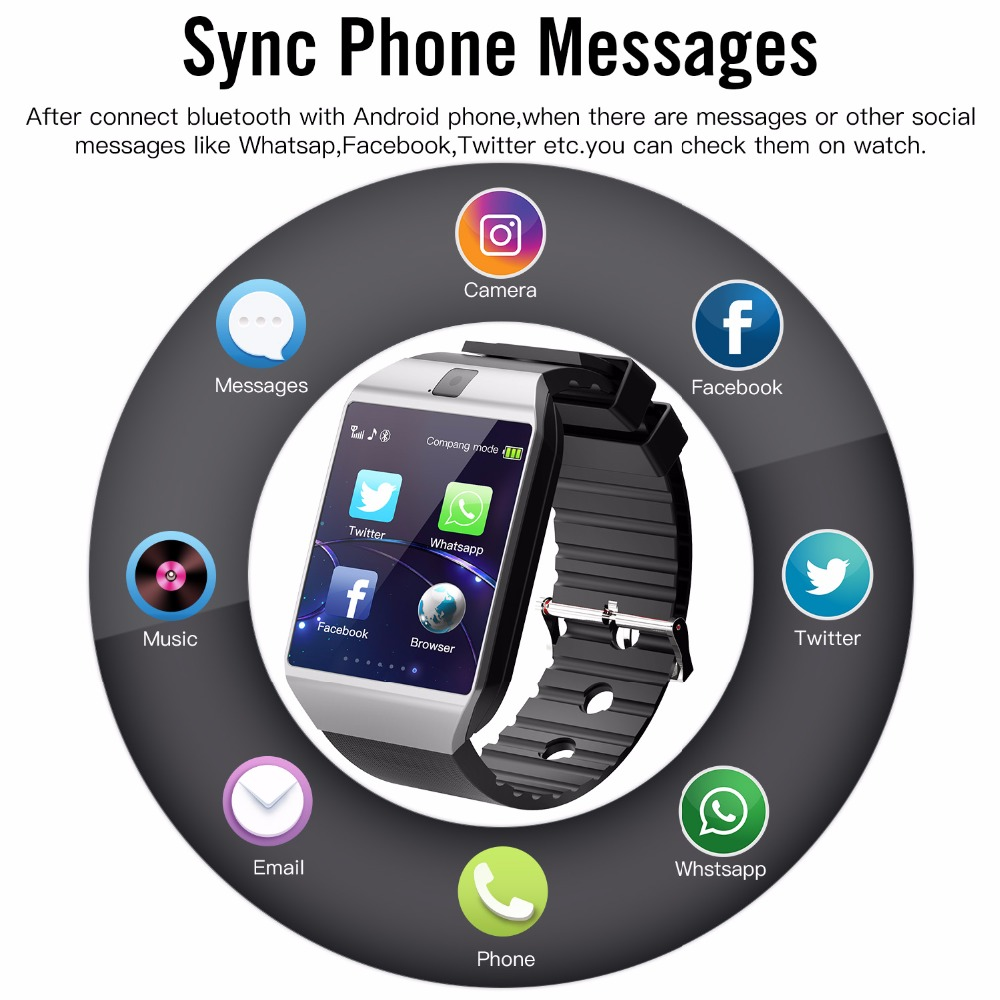 Smart Watch Phone Call 2G GSM SIM TF Card Camera for iPhone Android Samsung HUAWEI PK GT08 A1 3
