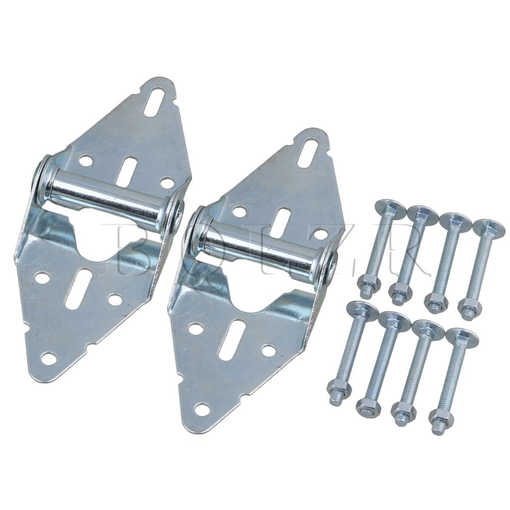 2PCS Heavy Duty Garage Door Hinges Replacement 1# Hinge with Bolt & Nut BQLZR 1 pair viborg sus304 stainless steel heavy duty self closing invisible spring closer door hinge invisible hinges jv4 gs58b