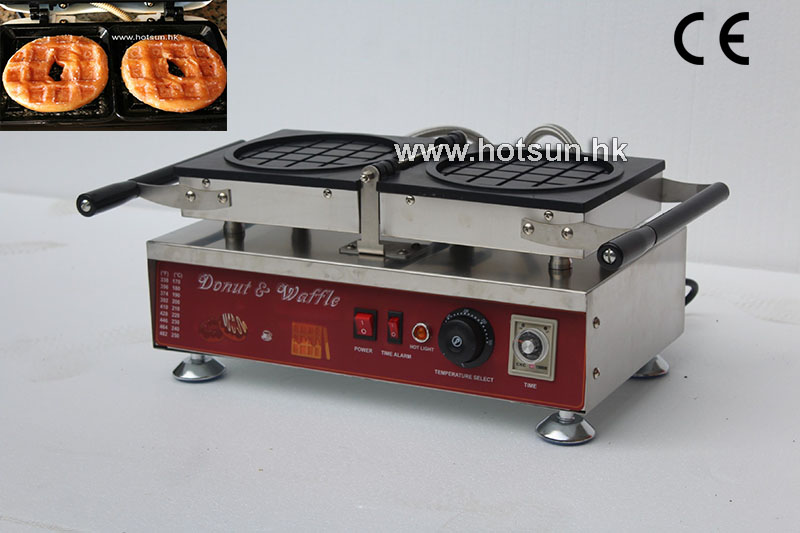 Free Shipping Commercial Electric Reversible Donut Waffle Krispy Kreme Waffle Iron Maker Machine donut making frying machine with electric motor free shipping to us canada europe