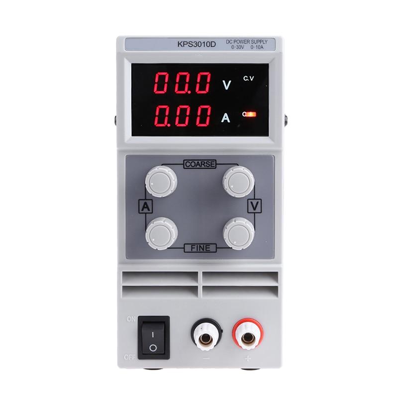 Voltage Regulators KPS3010D 30V 10A Switch laboratory DC power supply 0.1V 0.01A Digital Display adjustable Mini DC Power Supply 220v atten digital display dc voltage regulators power supply aps3005s 3d two way 30v 5a adjustable linear dc power supply