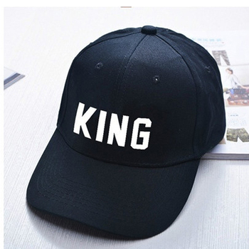 KING QUEEN Cap With Printing Snapback Hip Hop Baseball Caps Man Lovers Couples Men Women Cartoon Pattern Casquette Homme 1