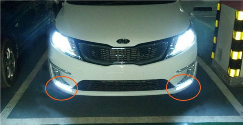 Super svetle LED DRL vodotesne dnevne luči za dnevne luči za KIA K2 - Avtomobilske luči - Fotografija 3
