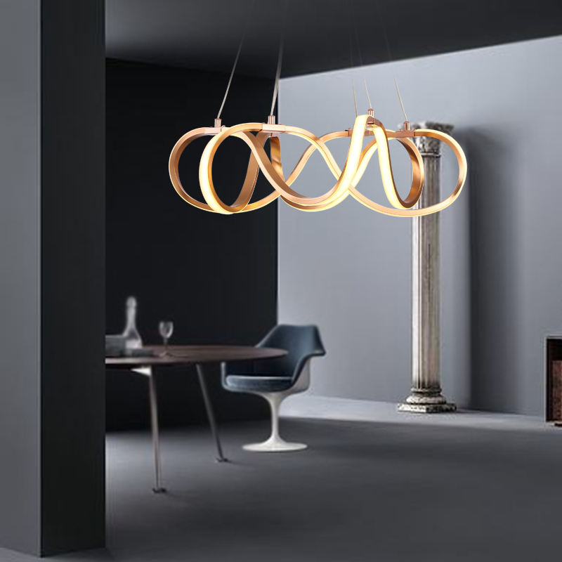 led chandelier Nordic living room chandelier creative art modern minimalist dining room chandelier bedroom pendant lights