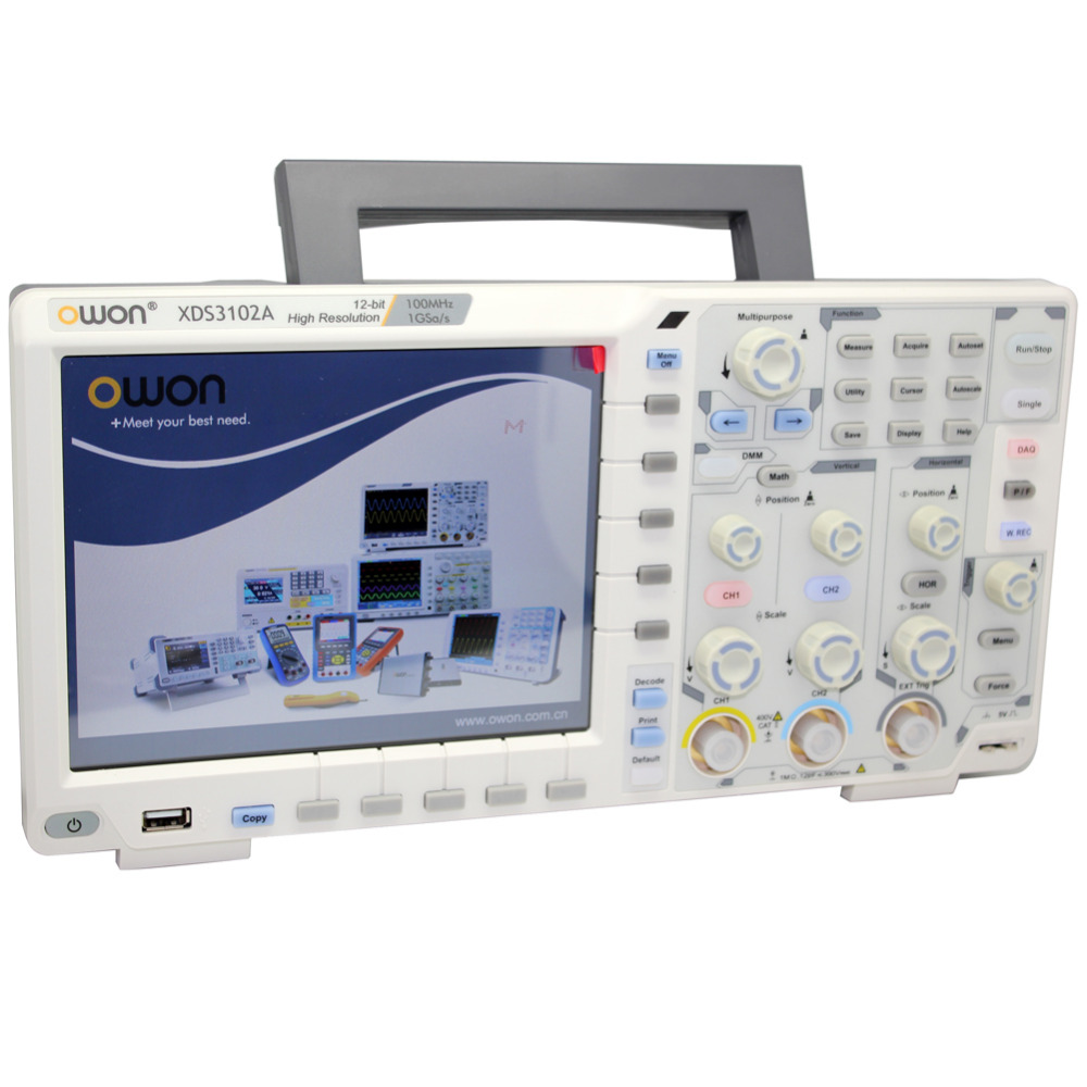 OWON XDS3102A 100M 1G12bOscilloscope datalogger rmultimeter waveform generator XDS3102A Optional