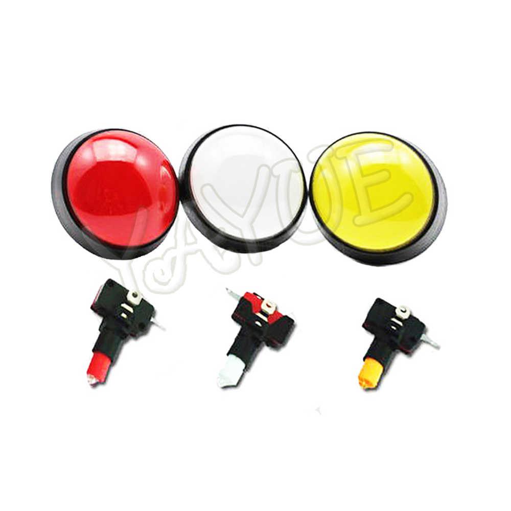 Mái Vòm lớn Nút 100 mét Chiếu Sáng Arcade Push Buttons Led 12 v Điện Nút Chuyển Đổi Push Button với Microswitch