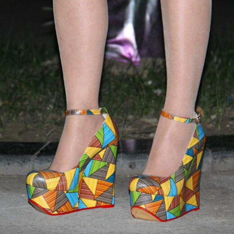 Cuña Elegant De Redondas 14 Manera Dedo Tamaño Shoes Talón Libre 45 Cuero Envío multiple Bombas Multi Color Cm Del 5 Shofoo Tela Pie La 34 Negro 5w6qU