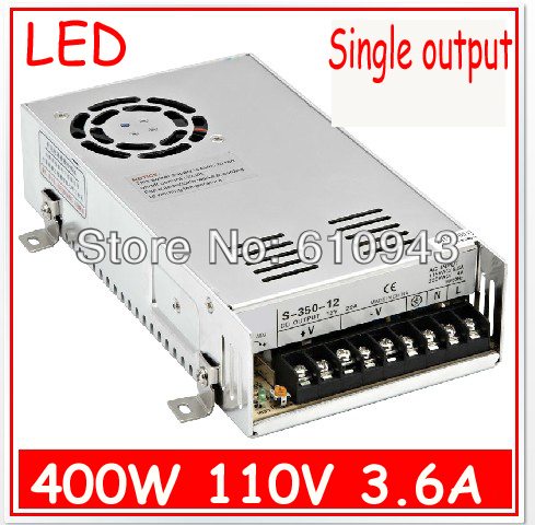 S-400W-110V 3.6A  Single Output Switching power supply for LED SMPS AC to DC single output dc 36v 8 3a 300w switching power supply for led light strip110v220v ac to dc36v smps with cnc electrical equipment