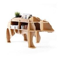 J & E M размер 48 белый медведь книжная полка фанерная мебель Самостоятельная головоломка мебель