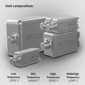 Image 4 - KZ AS10 5 – سماعات أذن متوازنة, سماعات متوازنة توضع في الأذن سماعة HIFI باس مراقب سماعات الأذن مع كابل 2pin KZ ZS10 KZ BA10