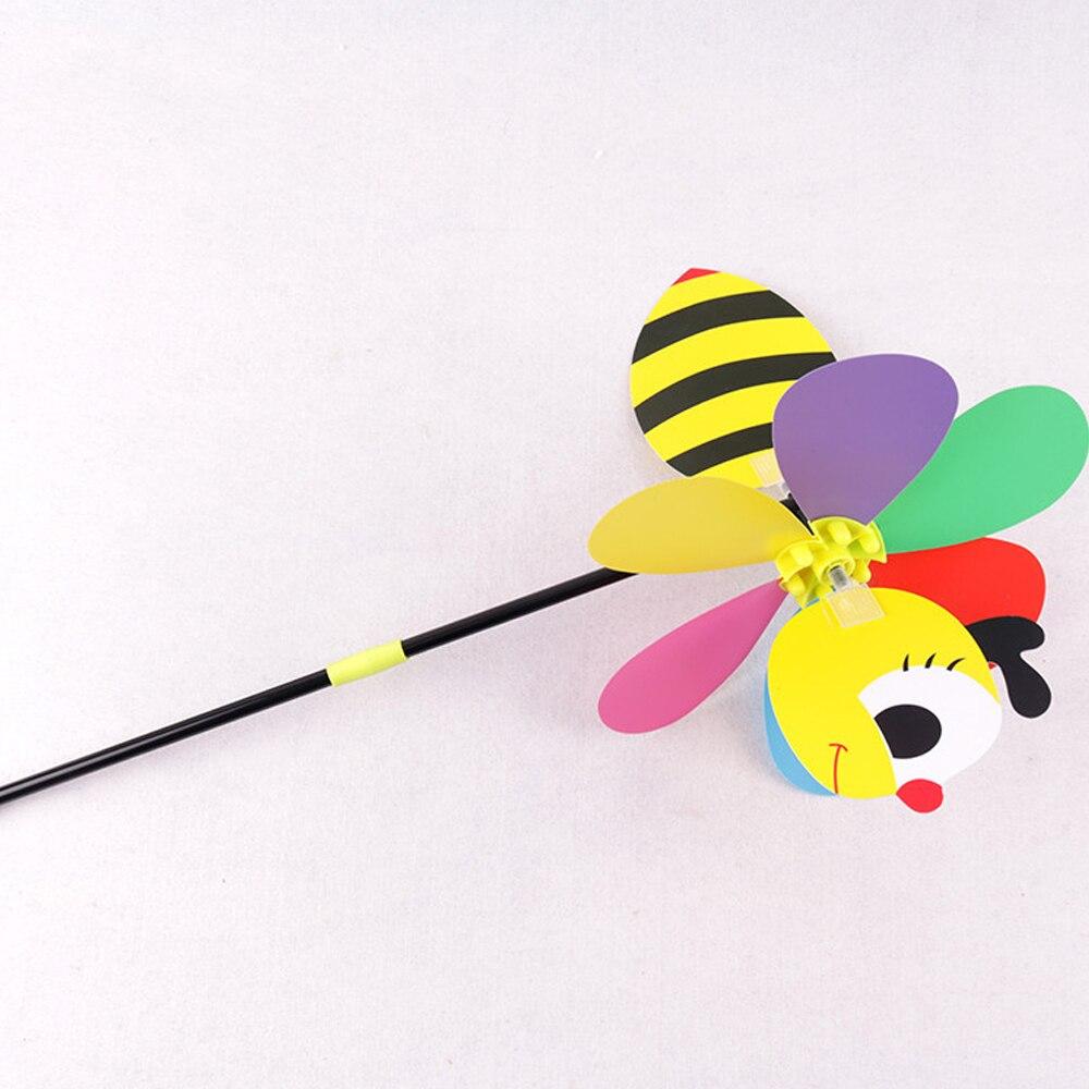 Пчелиная ветряная мельница милый цветной 3D насекомое вертушка ветер вертушка вихревые игрушки дворовый садовый Декор открытый газон декор цвет случайный