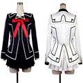 Vampire Knight Косплей Костюм Платье Юки Кросс Белый и Черный Единый