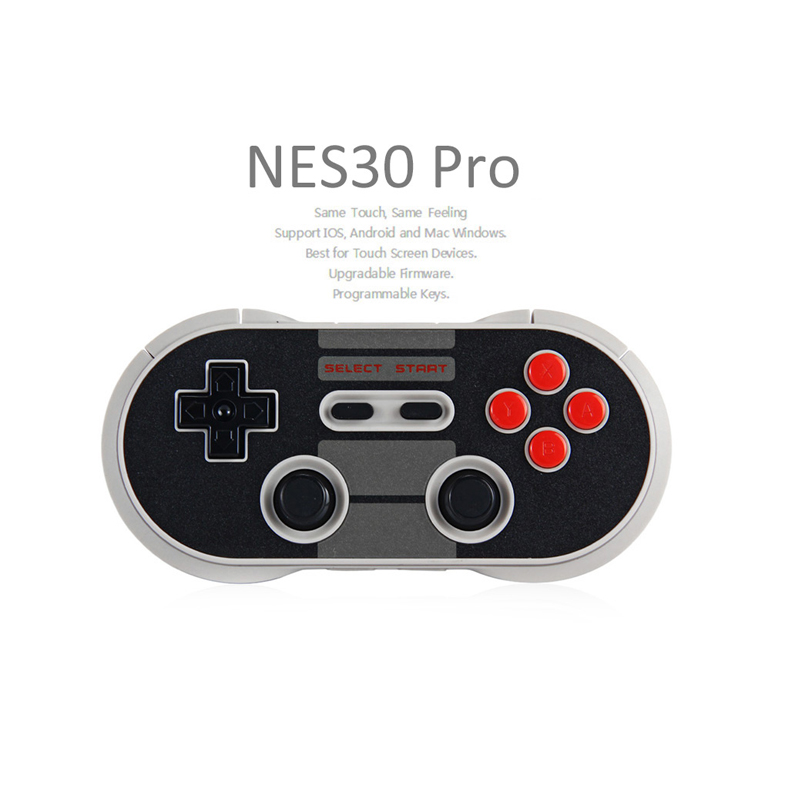 Classic 8Bitdo NES30 Pro Wireless Bluetooth Game Controller For Android PC Mac Linux Dual 8Bitdo FC30 Pro Joystick Gamepad 8bitdo fc30 pro wireless bluetooth controller dual classic joystick for android gamepad pc mac linux