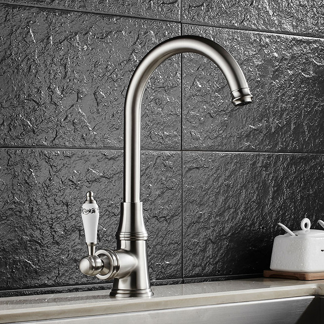 vintage kitchen faucet cape cod design sink cold and hot water crane brass 360 swivel antique mixer 4 colors