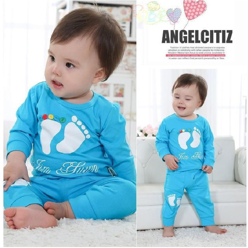 Yellow Cute Baby Boys Clothing Sets Kid Clothing Children's T-Shirts+Pant Suit Outfits 80 90 100 Cheapest Hot Sale 2017 baby boys 90