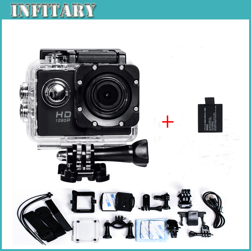 Add battery New F71 Action font b Camera b font 2 0 inch LCD 12MP WiFi