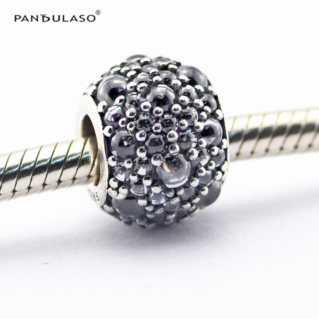 Shimmering Droplets Clear CZ Beads Fit Pandora Charms Silver 925 Original Bracelet 2016 New Charm Bead for DIY Jewelry Making