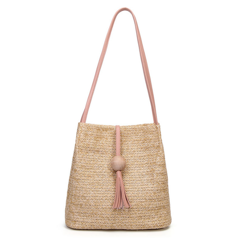 FGGS Bali Vintage Handmade Crossbody Leather Bag Round Straw Beach Bag Girls Circle Rattan Bag Small Bohemian Shoulder Bag
