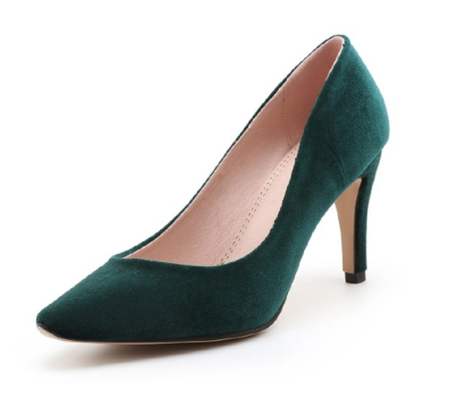 autumn women shoes high heel spike heels pointed toe single shoes shallow flock black office ladies pumps small size shoes woman spring autumn shoes woman pointed toe metal buckle shallow 11 plus size thick heels shoes sexy career super high heel shoes