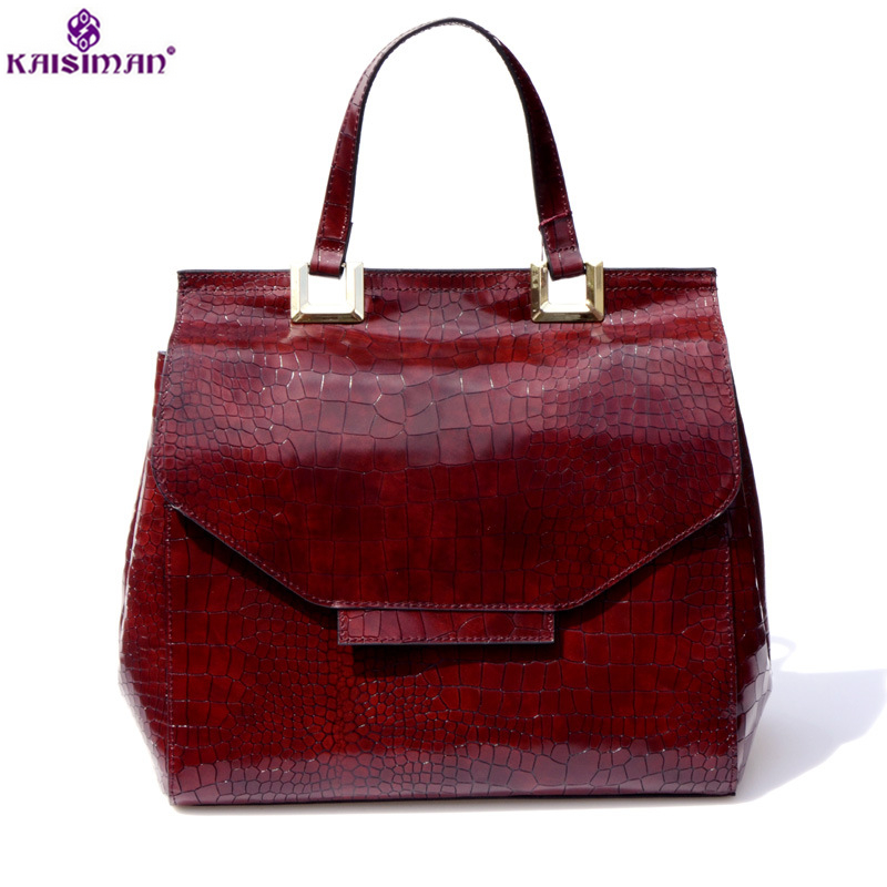 Brand Fashion Women Genuine Leather Shoulder Bag High Quality Crocodile Pattern Leather Handbags Female Tote Bag 2018 Sac A Main 2018 yuanyu 2016 new women crocodile bag women clutches leather bag female crocodile grain long hand bag
