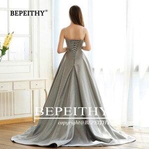 Image 5 - BEPEITHY Abendkleider Glitter A Line Lange Abendkleid Partei Elegante 2019 Robe De Soiree Spaghetti trägern Prom Kleider