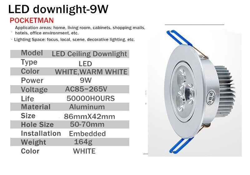 Downlights lampara techo plafoniera recesso 110 Tipo de Ítem : Downlights