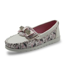 Lovely Girls Flower Party Shoes With Crystal Bow