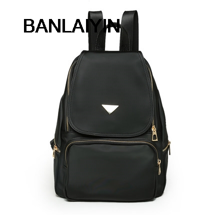 New Fashion Japan Korean Style Women Oxford Canvas Backpack Travel Waterproof Black Bags Soft Handle Mochilas For Teenager Girls street style stylish buckle embellished multi way black canvas backpack for women