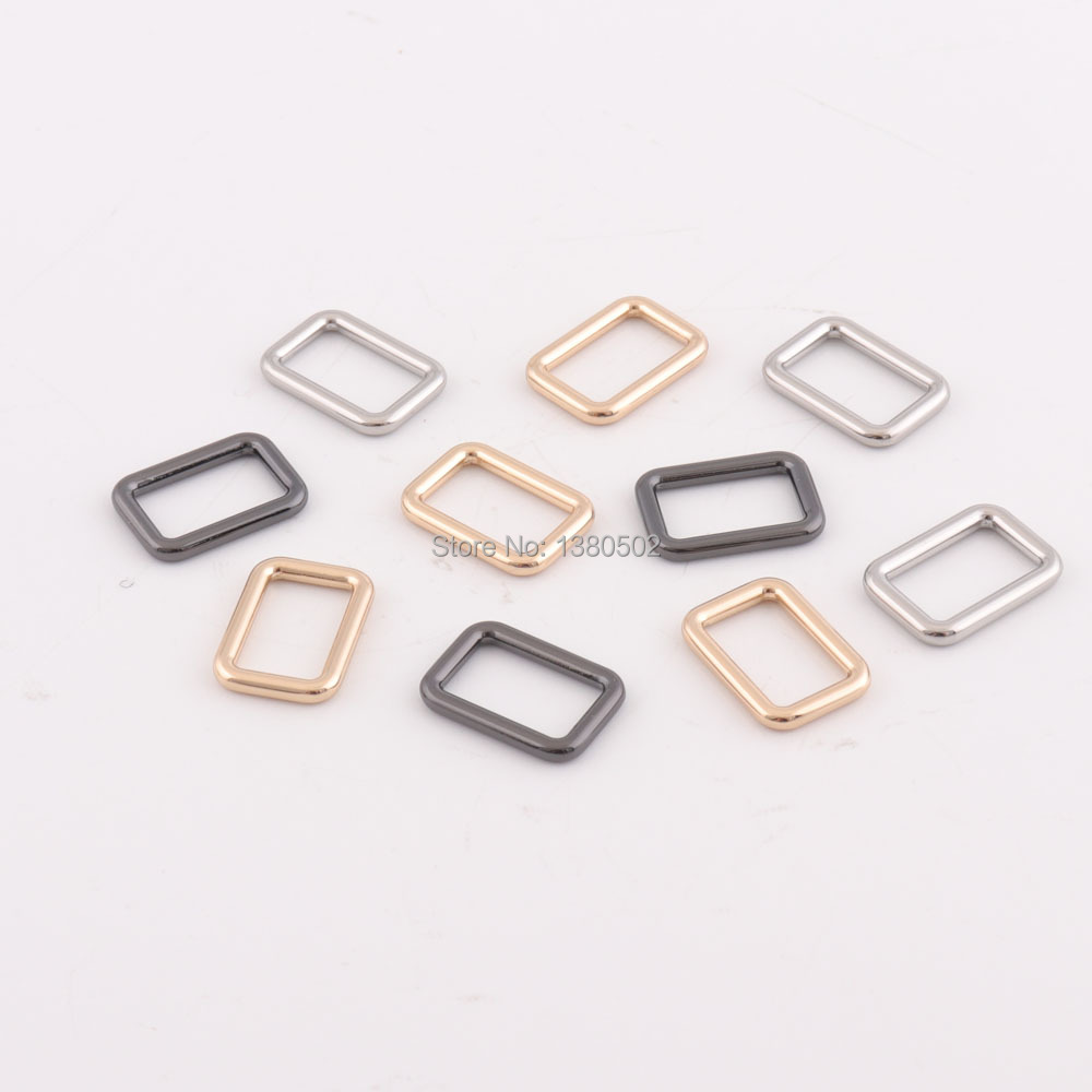 Arts,crafts & Sewing Analytical 6pcs/lot 28*24mm Black Gold Silver Color Square Metal Adjustable Buckle For Bag Garment Backpack Accessories Removing Obstruction
