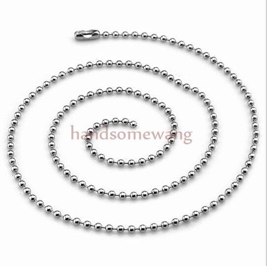 3c28da47b1ca 100 unids 18 -40 1.5mm lote al por mayor 316L acero inoxidable de plata  redondo bola de la joyería collar de cadena