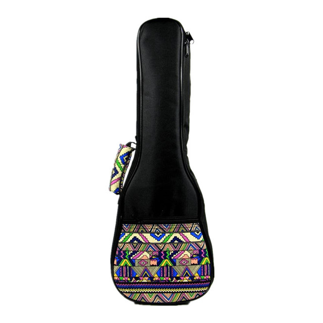 Vintage 21 23 24 26inch soprano concert tenor ukulele bag backpack case soft gig padded fashion pattern creative gifts girl boy