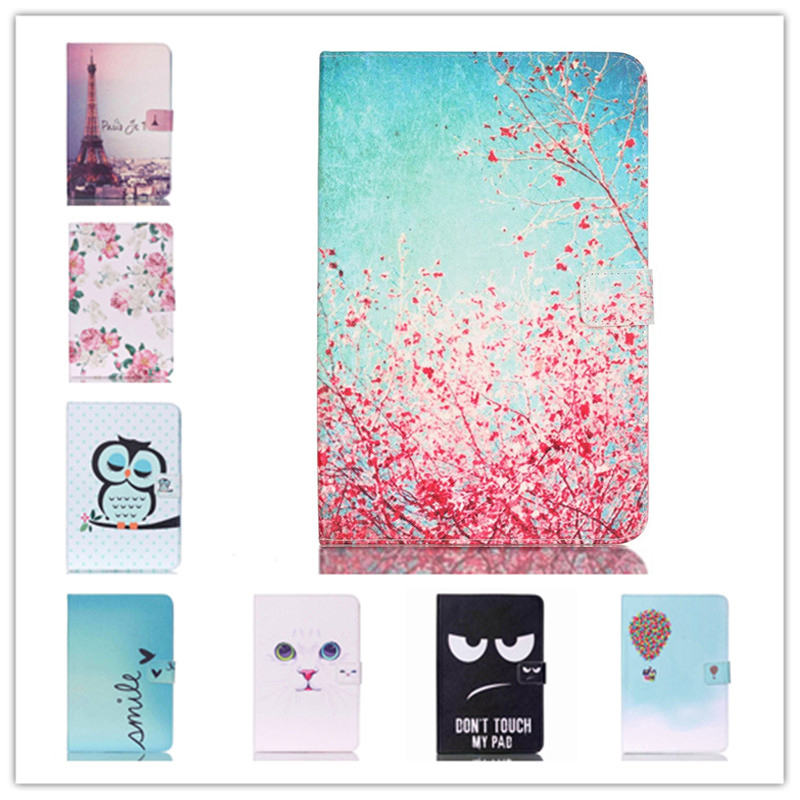 For Samsung Galaxy Tab A 8.0 T350 T351 SM-T355 case cover 8 inch tablet flower Paint PU Leather Stand case replacement new lcd display screen for samsung galaxy tab a sm t350 t350 t351 t355 8 inch free shipping
