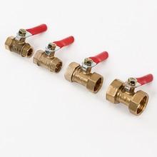Thread Coupler Off-Ball-Valve Adapter Brass Pneumatic-Shut BSP 3/8-1/2-Connector Pipe-Fitting