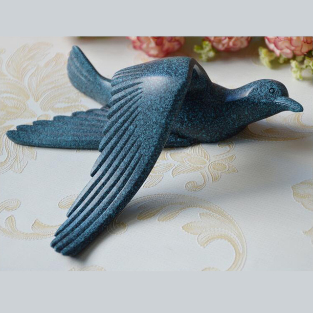 5pcs/set Creative 3D Resin bird Home Decoration decor wall stickers decoration Furnishings The dove of peace for European mascot 6