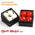 good quality  magic tricks Multiplying Balls - White Gorilla-Grip -4.7cm