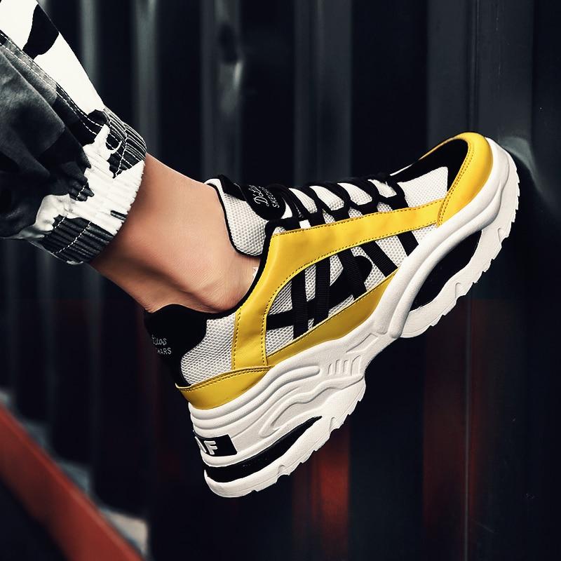 BomKinta Stylish Designer Casual Shoes Men Yellow Sneakers Black White Walking Footwear Breathable Mesh Sneakers Men BomKinta Stylish Designer Casual Shoes Men Yellow Sneakers Black White Walking Footwear Breathable Mesh Sneakers Men Shoes