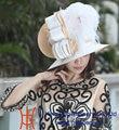 Бесплатная доставка мода элегантный новое поступление бесплатная доставка от кутюр перо дерби церковь шляпы атлас ткань твист Hat женщин вводная часть