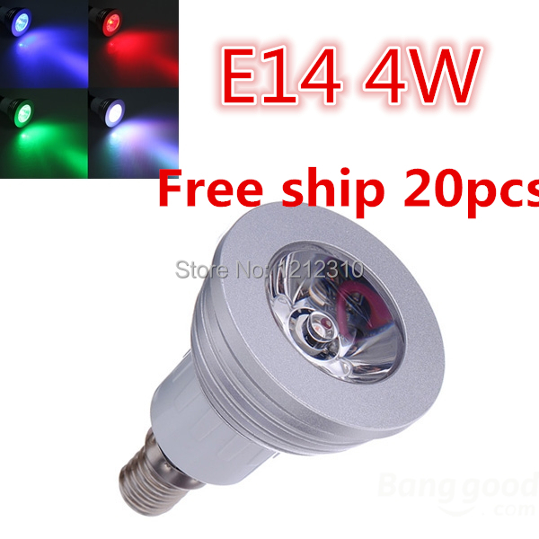 HOT SALE Energy Saving LED E14 4W RGB LED Spotlight Flood Light IR Remote 20pcs lot
