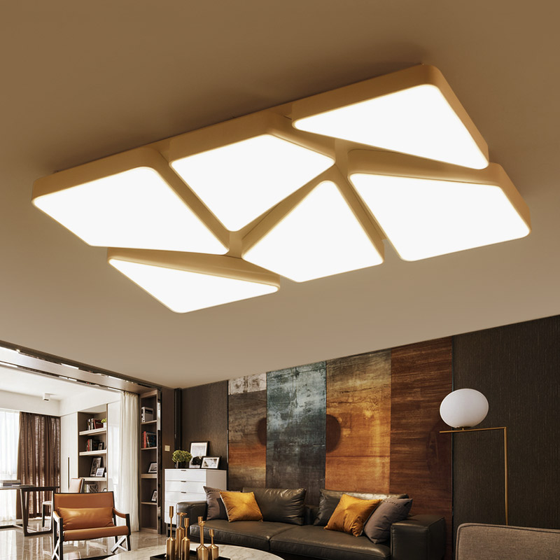 New design modern rectangle LED Ceiling Lights fixture for living room Bedroom lamparas de techo colgante modern ceiling lamp new design modern led ceiling lights for living room bedroom white or black aluminum home ceiling lamp lamparas de techo